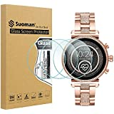 Suoman 3-Pack for Michael Kors Access Gen 4 Sofie Tempered Glass Screen Protector, (Only Fit for Gen 4 Sofie Smartwatch, Do Not Fit for Gen 3 Sofie)
