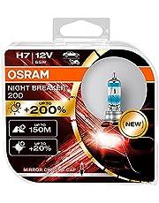 OSRAM NIGHT BREAKER 200, H7, + 200% meer helderheid, halogeen koplamp lamp, 64210NB200-HCB, 12V auto, duo box (2 lampen)