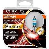 OSRAM NIGHT BREAKER 200, H7 + 200% más luz, lámpara de faro halógena, 64210NB200-HCB, 12V, Duo box (2 lámparas)