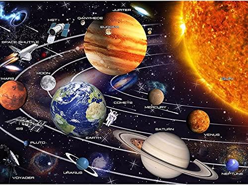Sistema Solar Espacio Exterior Planeta Rompecabezas de Madera de 1000 Piezas para Adultos y niños Adecuado para niños de 10 años en adelante