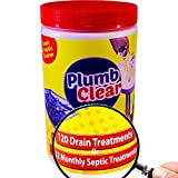Drain Cleaner & Septic Tank Treatment - 1 Year Supply - Great Drain Clog...