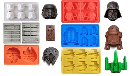Star Wars Eiswürfelform im Kugel-Design, Silikon, für Eiswürfel, Chocolate-, 6 Stück