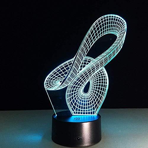 3D Illusie lamp 3D Nacht Licht 3D Illusie Led Bureau Lamp Gourd Figuur 3D Visuele Nachtlampjes USB-poort Kinderachtige Slaapkamer Naast voor Kinderen Kid Nieuwjaar Geschenken met Afstandsbediening