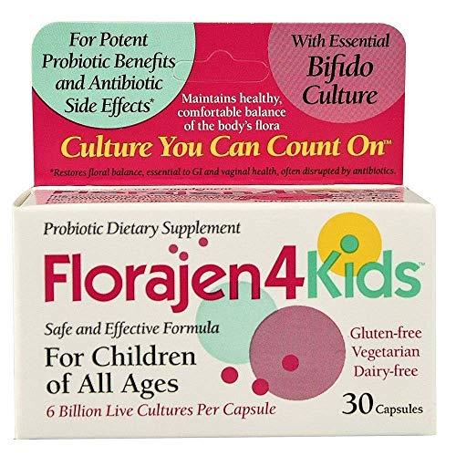 Florajen 4 Kids Probiotic Dietary Supplement - 30 Capsules, Pack of 3