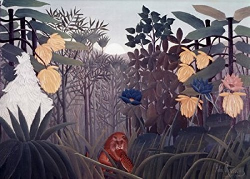 Posterazzi Repast Of The Lion S.d. 1910 Henri Rousseau (1844-1910 French) Poster Print, (24 x 36) (Henri Rousseau The Repast Of The Lion)