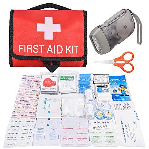Oziral Botiquín de Primeros Auxilios de 117 Artículos Kit de Supervivencia Médica...