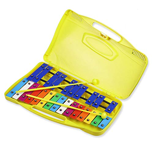 Mr.Power Colorful 25 Note Chromatic Glockenspiel Xylophone in Case...