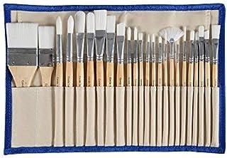CONDA(コンダ) 24本ペイントブラシレット 水彩/油絵/アクリル用 平筆 丸筆 スタンド可能収納ケース付き 24本セット