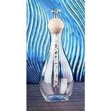 Wasser Glas-Karaffe 1l mit Energiestab Edelstein Bergkristall Amethyst Rosenquarz Peridot Wasser-Energetisieren Feng Shui Esoterik Geschenke