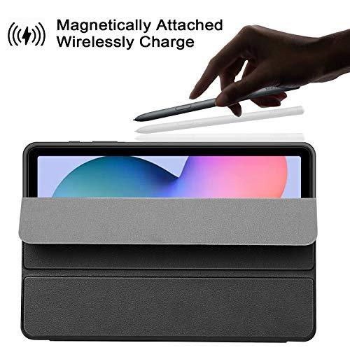 ZtotopCase Hülle für Samsung Galaxy Tab S6 Lite 10.4 2020,Ultra Dünn Leicht Smart Cover,mit Stifthalter,mit Auto Schlaf/Wach Funktion,für Galaxy Tab S6 Lite 10.4 Zoll Tablet,Schwarz