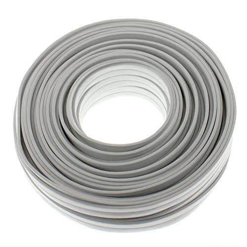 Lautsprecherkabel FLACH 2x4,0mm² - weiss - 25m - CCA - Audiokabel - Boxenkabel
