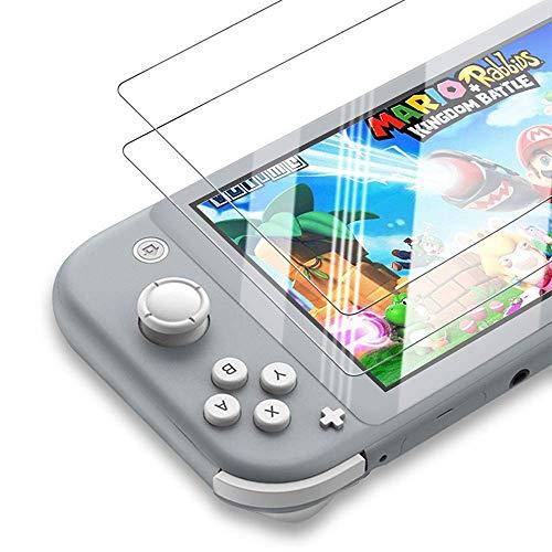 Protector de pantalla de cristal templado para Nintendo Switch, antiluz azul, protector de pantalla HD antiarañazos, compatible con Nintendo Switch, 2 unidades