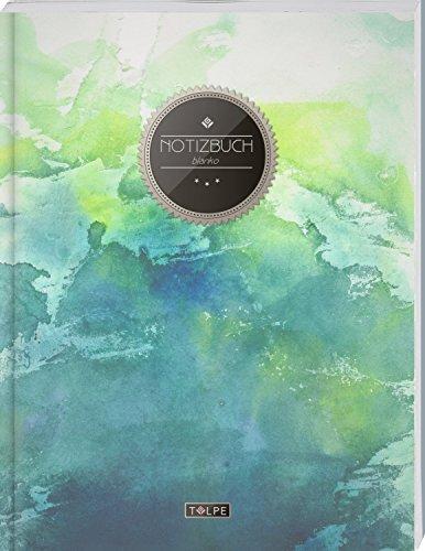"""TULPE Blanko Notizbuch A4 """"C003 Grunge"""" (140+ Seiten, Vintage Softcover, Seitenzahlen, Register, Weißes Papier - Dickes Notizheft, Skizzenbuch, Zeichenbuch, Blankobuch, Sketchbook)"""