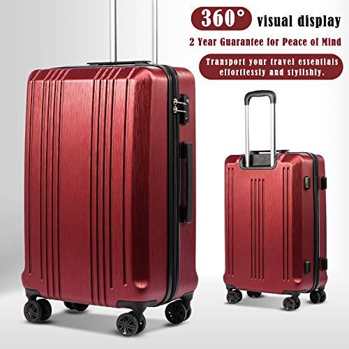 Coolife Luggage Expandable Suitcase 3-Piece Set