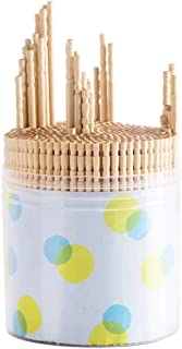 1000 Pieces Wooden toothpicks in 2 Clear big Plastic Box | Party, Appetizer, Olive, Barbecue, Fruit, Teeth Cleaning Art Crafts