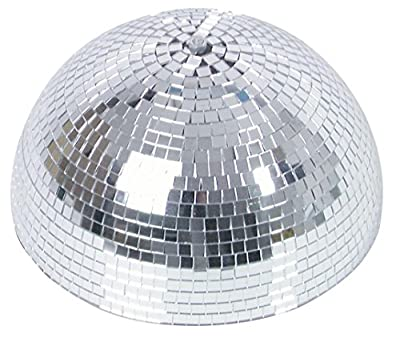 Half mirror ball 30 cm with safety motor.
