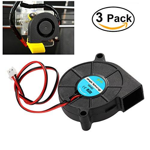 UEETEK 3Piece Ventilatore DC 12V per stampante 3D, Ventola radiatore del ventilatore a turbina, eccellente per il dissipatore di calore raffreddamento