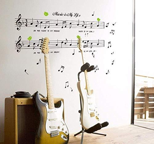 JQSM Nuevo Diseño Creativo Personal de Música Pegatinas de Pared Nota Musical Pegatinas Sala de Estar Niños Habitación Aprendizaje...