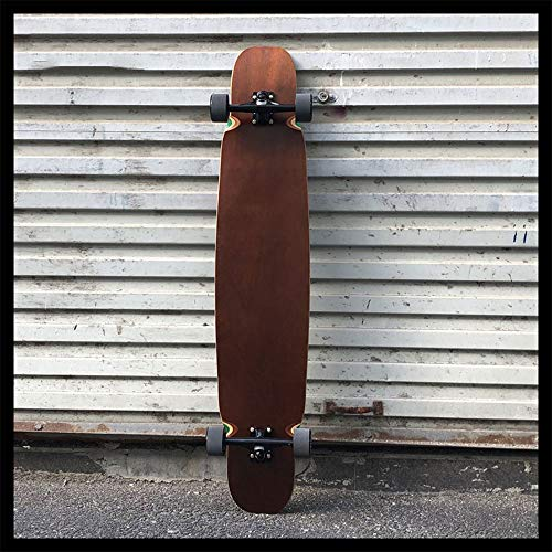 Skateboarding, Street Sweeping Allround Travel Road Dance Board, Longboard Professioneller Männlicher Erwachsener Skateboard Anfänger,Braun