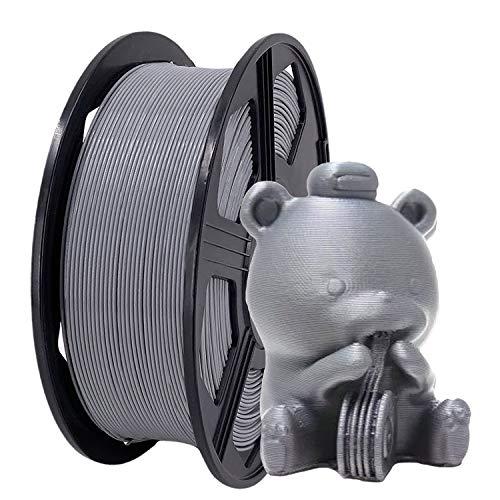 YOYI 3D Printer Filament, PLA Filament 1.75mm 2.2 lbs Spool (1kg), Dimensional Accuracy +/- 0.02 mm, 100% Europe Raw Material (SILVER)
