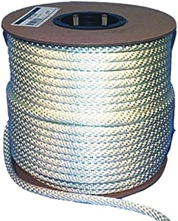Cordage Source Solid Braided Nylon Rope, 3/8-Inch by 500-Feet, White