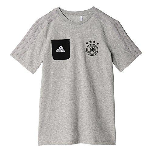 adidas Dfb Tee Staff Y Camiseta Equipación Federación Alemana de Fútbol, Niños, Gris (Brgrin / Negro), 176