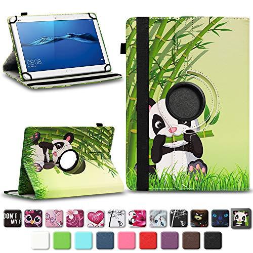 NAmobile Schutzhülle kompatibel für Huawei MediaPad T1 T2 T3 T5 10 Tablet Hülle Tasche Schutzhülle Case 360 Drehbar, Farben:Motiv 11