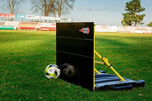 POWERSHOT Fußball-Abprallwand mit optionaler gebogener Rampe - Frank Labeouf zugelassen (Standard-Rückprallbrett)