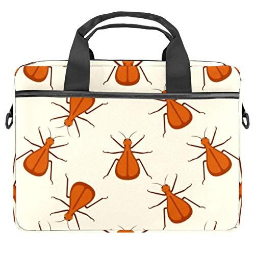 Laptop Tote Bag Computer Rucksack Compatible with Chromebook, MacBook Pro Orange Bug