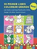 Mi Primer Libro Colorear Grande con Early Learning Flashcards Niños Juego 1-6 años Español Uzbeko