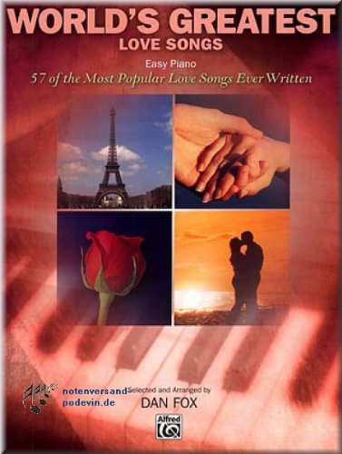 WORLD'S GREATEST LOVE SONGS (Easy Piano) - pianonoten [muziek]