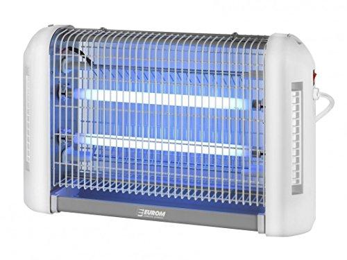 EUROM Insektenvernichter Insektenlampe mit UV-Licht 2x15 Watt, 150m² Reichweite - Fly Away all-round 30