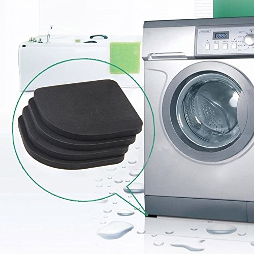 HUACHEN-LS Your Best Choice of Bathroom Supplies Shockproof and Anti-Slip Pad Mute Cotton for Washing Machine 4 PCS Bring You a Comfortable Lifestyle