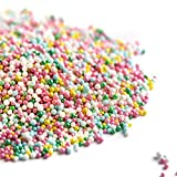 Sweets Indeed Sprinklefetti Spring Nonpareil Mix - Gluten-Free Color Sprinkles for Baking - Cupcake and Cake Topper - Pastel Nonpareils - 5.75 ounces