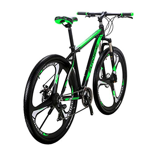 LZBIKE Bicycle X9-29 Aluminum Alloy Mountain Bike 21 Speed Shift Left 3 Right 7 Frame Shock Absorption Mountain Bicycle Green