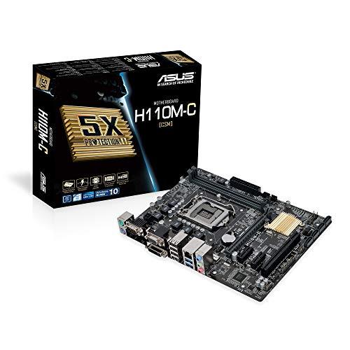 Asus H110M-C Mainboard Sockel 1151 (µATX, Intel H110, 2x DDR4 Speicher, 4x SATA 6Gb/s, 2x USB 3.0, 4x USB 3.0, PCIe 3.0)