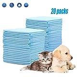 HyAiderTech Tappetini Igienici per Cani, Telini Assorbenti per Addestramento Cuccioli, Pannolini per Animali Domestici, Traverse Senza Perdite, Assorbente, 60 x 90 cm(20 Pack)