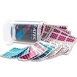 ZiATEC Cross Tapes 102 | 204 tiritas y caja protectora | parches cruzados, tiritas de acupuntura, cinta de rejilla, tamaño:talla única, color:2 x mix
