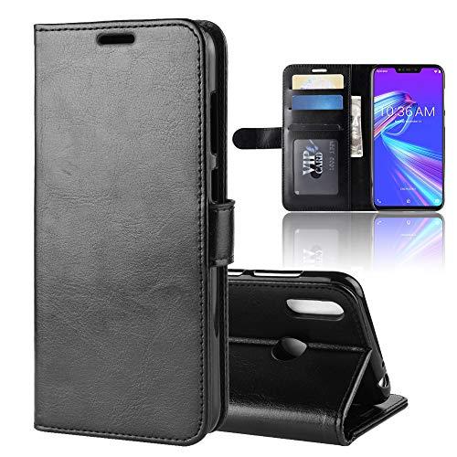 """XMTON ASUS ZenFone Max (M2) ZB633KL 6.26"""" Custodia,Premio PU Custodia in Pelle con Wallet Case Cover per ASUS ZenFone Max (M2) ZB633KL Smartphone (Nero)"""