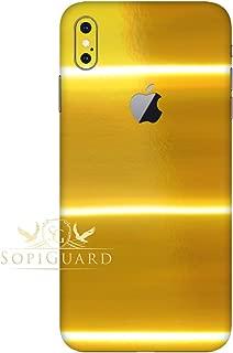 SopiGuard Skin for Apple iPhone Xs MAX Precision Edge-to-Edge Vinyl Sticker (Chrome Gold)
