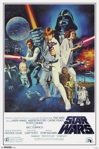 Trends International 24x36 Star Wars-V One Sheet Premium Wall Poster, 22.375' x 34'
