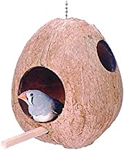Pen Plax BA750 Coconut Shell Bird House or Nest for Finches