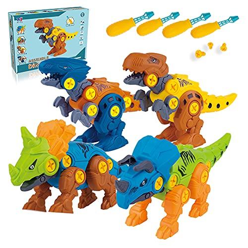 CUTOYOO Dinosaurios Juguetes 2 3 4 5 6 + Años, Montar el Juguete de Dinosaurio Juguetes para Niños Educativos 2-8 Años Regalos de Cumpleaños para Niños