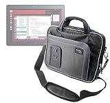 DURAGADGET Maletín con Diseño Innovador para la Tablet BQ Aquaris M10 Ubuntu Edition 10.1' | HD | Full HD - En Color Negro Y Azul