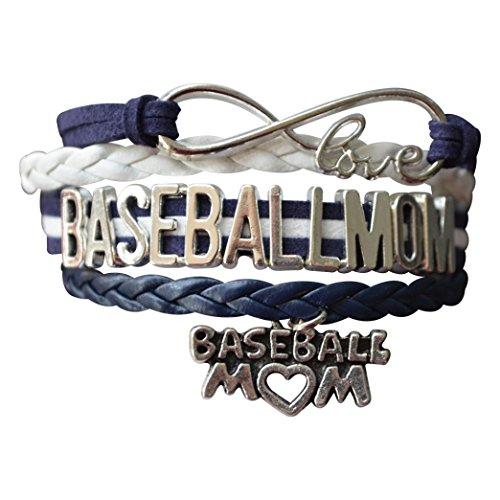 Baseball Mom Bracelet- Women's Baseball Charm Jewelry For Moms - Perfect Gift for Baseball Moms (Navy )