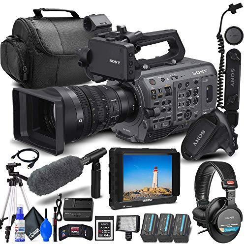 Sony PXW-FX9K XDCAM 6K Full-Frame Camera System with 28-135mm f/4 G OSS Lens (PXW-FX9VK) + 4K Monitor + Pro Headphones + Sony 64GB XQD Card + Pro Mic + 2 x BP-U35 Battery + Pro Tripod + More (Renewed)