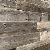 Holz Wandverkleidung mit 3d Paneelen aus verwittertem und recyceltem alten Holz von Nordje … (Grau)