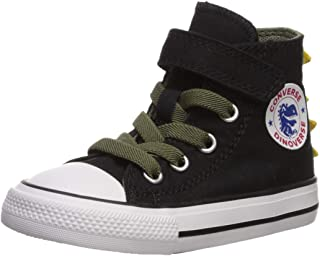 Canvas High Top Sneaker Casual Skate Shoe Boys Girls Jurassic Dinosaur Gathering
