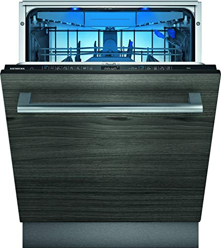 Siemens SN75ZX49CE iQ500 Vollintegrierter Geschirrspüler/A+++ / 237 kWh/Jahr / 2660 L/Jahr/Zeolith Trocknung/WLAN-Fähig über Home Connect/glassZone im Oberkorb, Schwarz