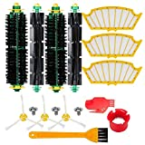 HIFROM Roomba Filters Bristle Brush and Flexible Beater Brush Side Brush with Cleaning Brush Tools Replacement for iRobot Roomba 500 Series 560 510 530 535 540 580 610 Vacuum Cleaner Accessory